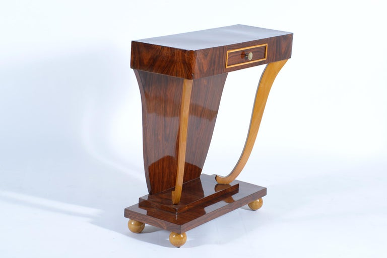 Art Deco Italian Console with Drawer, 1930 In Good Condition For Sale In Firenze, IT