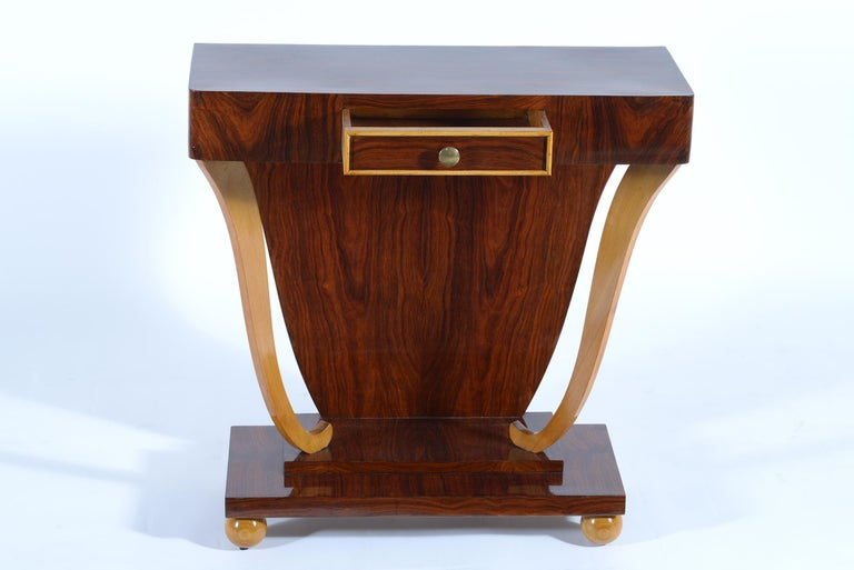Art Deco Italian Console with Drawer, 1930 For Sale 4
