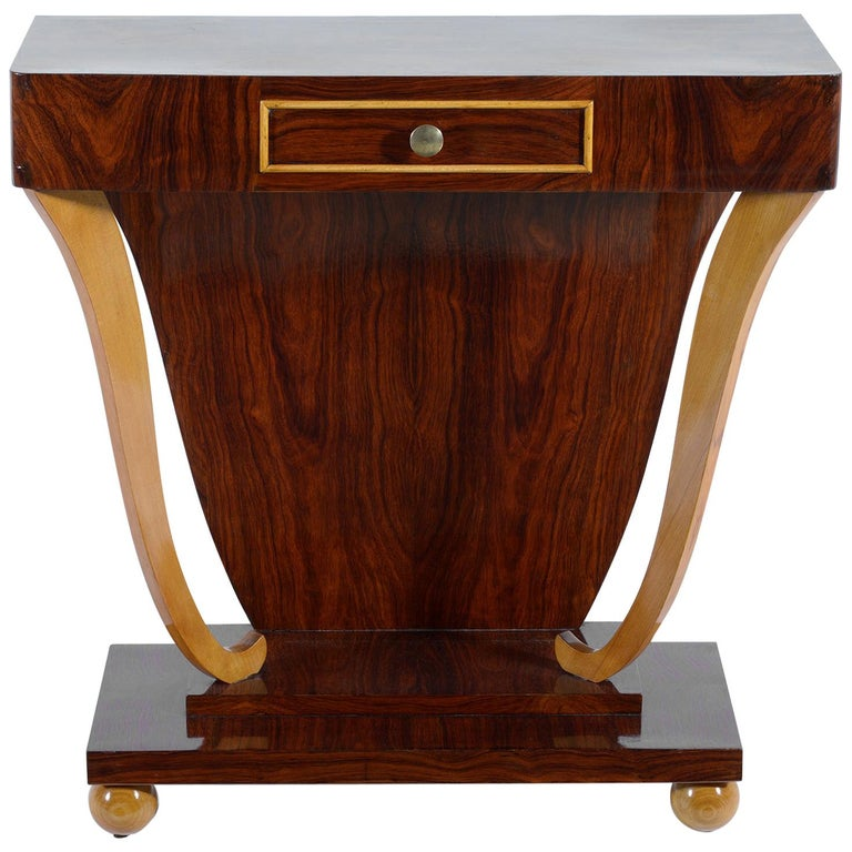 Art Deco Italian Console with Drawer, 1930 For Sale