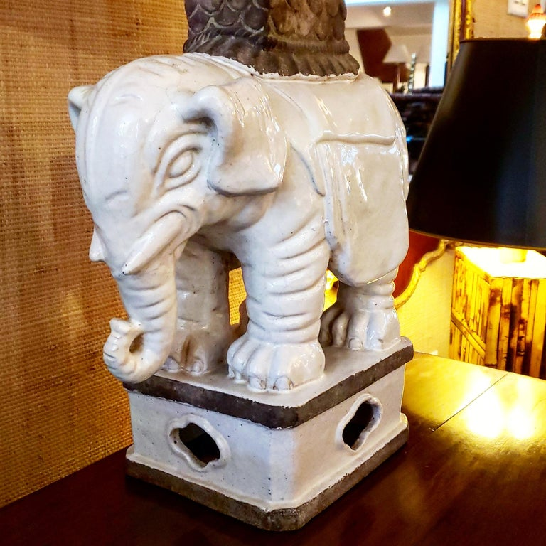 Art Deco Italian Elephant Lamp In Good Condition For Sale In New York, NY