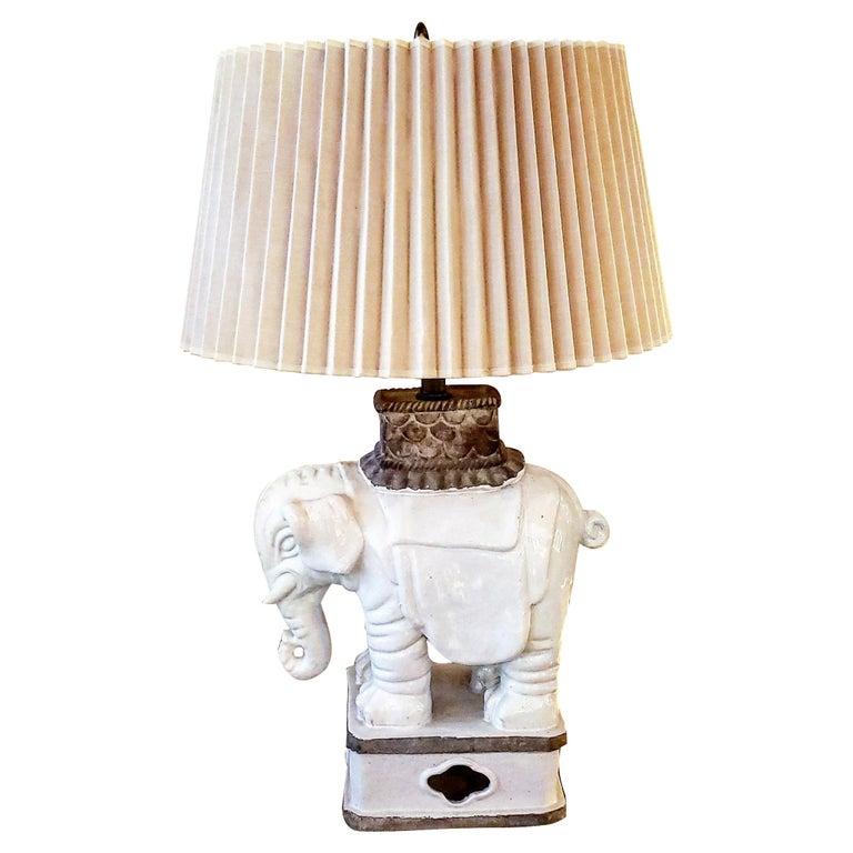 Art Deco Italian Elephant Lamp For Sale