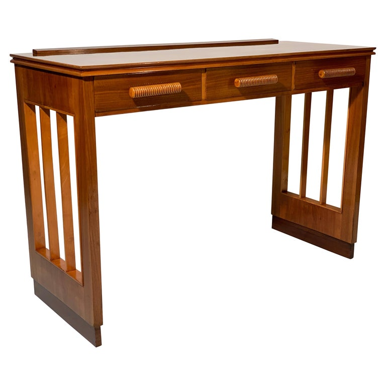 Art Deco Italian Mid-Century Modern Walnut Writing Desk ...