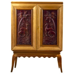 Art Deco Italian Rare Bar Cabinet Attributed to Pierluigi Colli