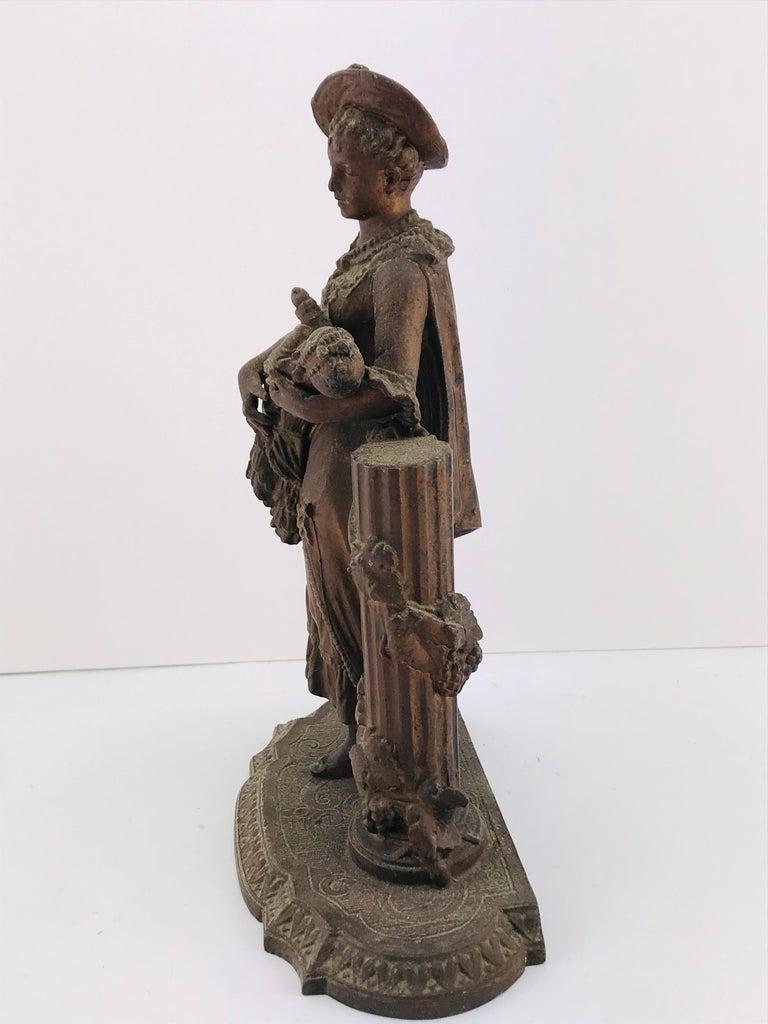 Art Deco Italian Sculpture in Bronze, 1950s For Sale 6