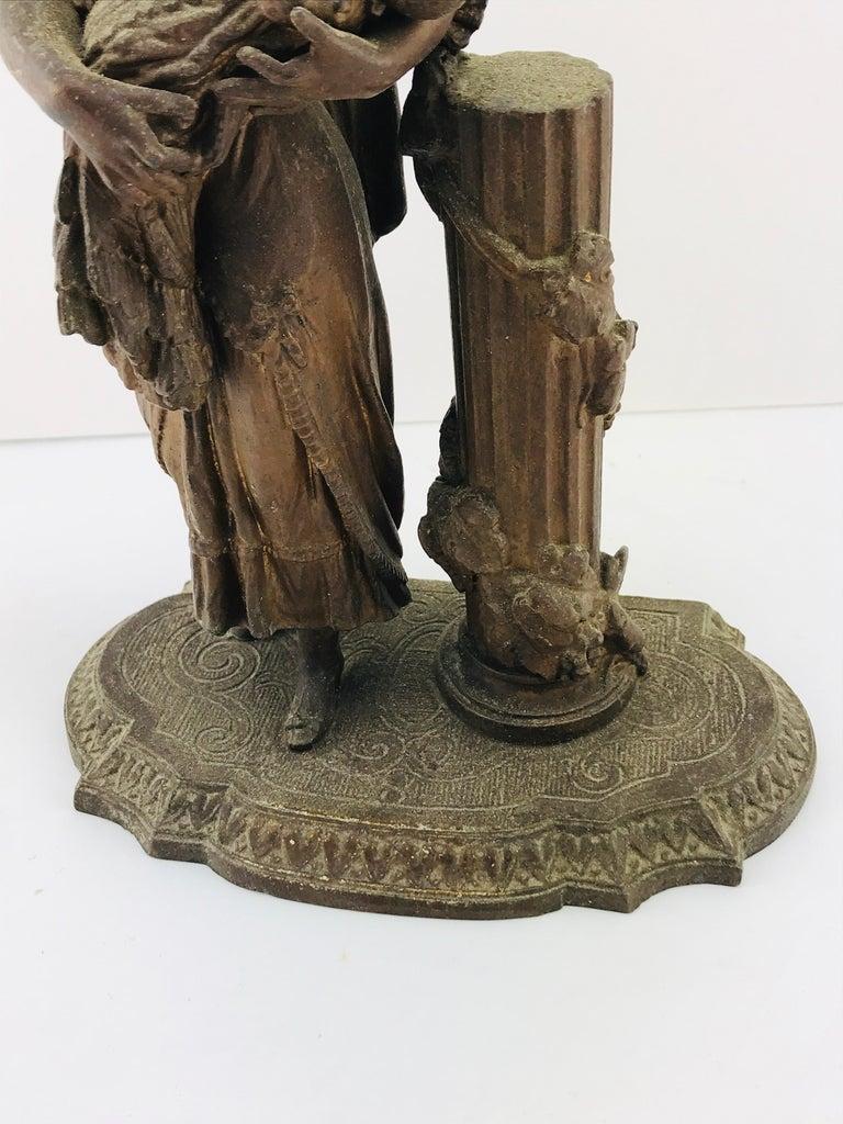 Art Deco Italian Sculpture in Bronze, 1950s For Sale 8