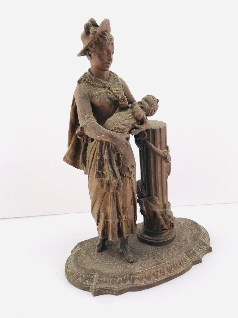 Mid-20th Century Art Deco Italian Sculpture in Bronze, 1950s For Sale