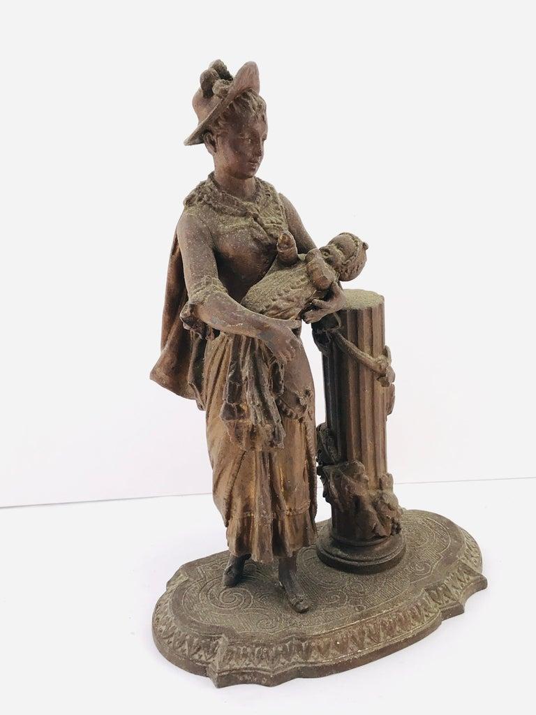 Art Deco Italian Sculpture in Bronze, 1950s For Sale 1