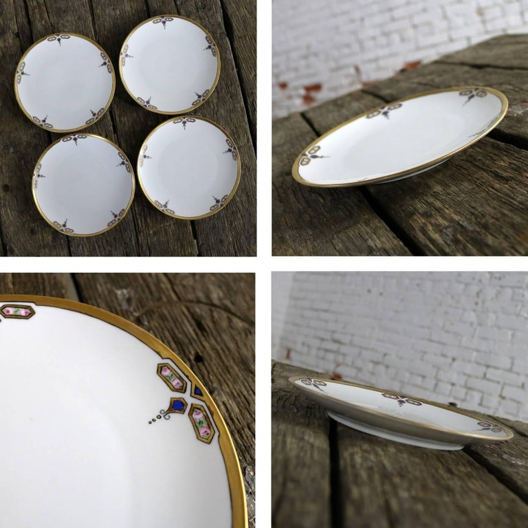 Art Deco J and C Bavaria China Luncheon, Set for Four For Sale 1