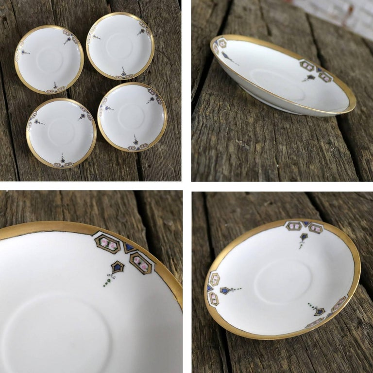 Art Deco J and C Bavaria China Luncheon, Set for Four For Sale 2