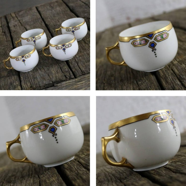 Art Deco J and C Bavaria China Luncheon, Set for Four For Sale 3