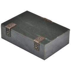 Art Deco Jade Box