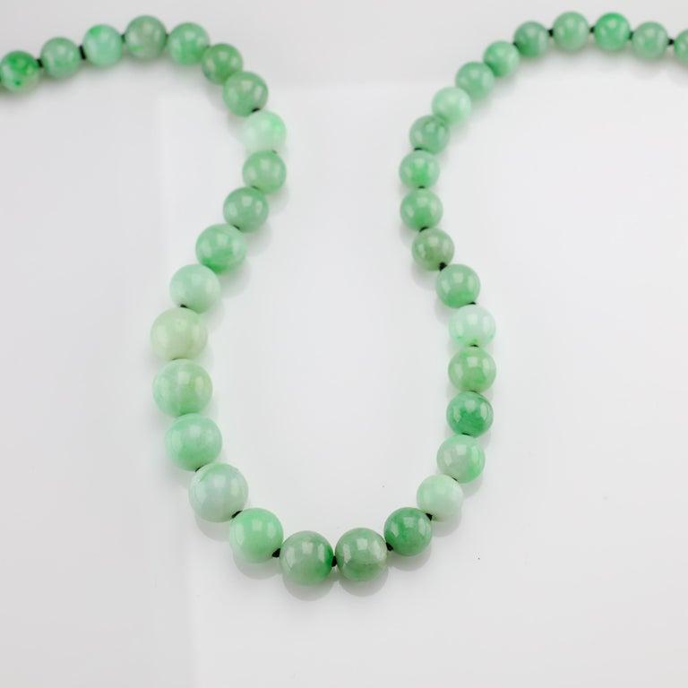 Art Deco Jade Necklace For Sale 3