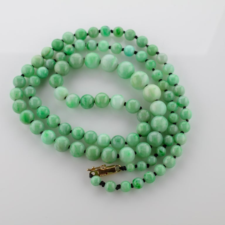 Art Deco Jade Necklace For Sale 4