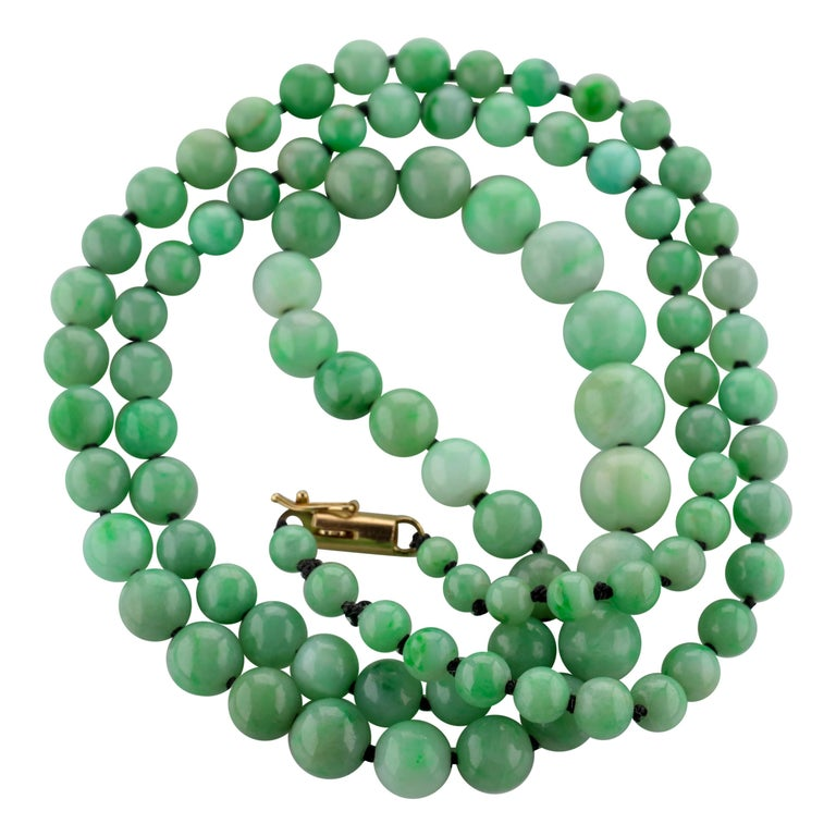 Art Deco Jade Necklace For Sale