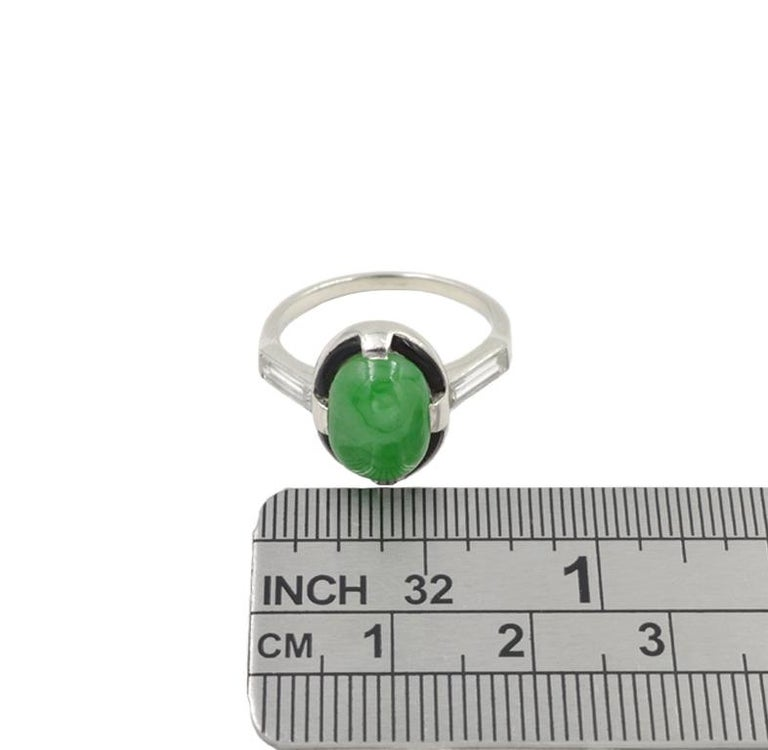 Art Deco Jade Ring For Sale 1