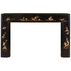 Art Deco Japanned/Chinoiserie Fireplace
