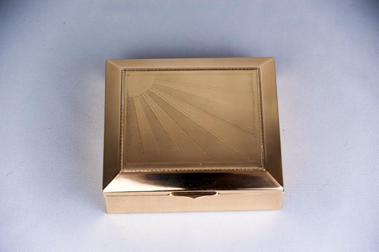 Art Deco jewelry box, 1920s Original wood inside the box polished and stove enameled.