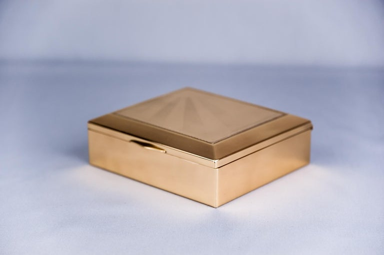 Lacquered Art Deco Jewelry Box, 1920s For Sale