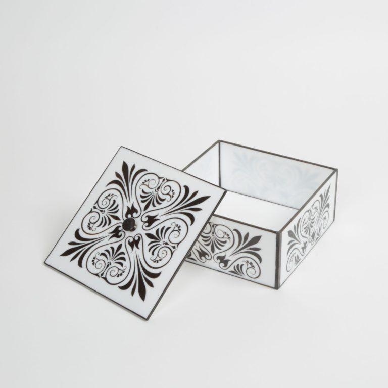 Stained Art Deco Style Jewelry Box For Sale
