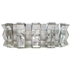 Art Deco Josef Inwald Czech Glass Centrepiece Vase Cubist, 1930