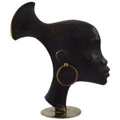 Art Deco Karl Hagenauer Vienna Austria Bronze African Figurine Sculpture