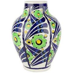 Art Deco Keramis Boch Jazzy Vase