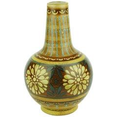 Art Deco Keramis Boch Orange Vase