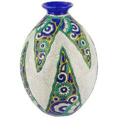 Art Deco Keramis Boch Vase D1101