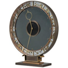 Art Deco Kienzly Zodiac Mantel Mystery Clock, circa 1935, Heinrich Möller