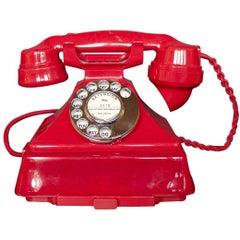 Art Deco 'King Pyramid' Red Bakelite GPO Telephone 'Model No.1/232'