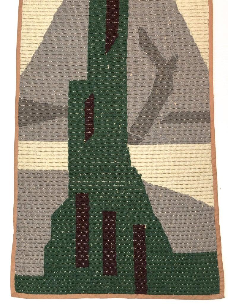 Art Deco Knit Tapestry Skyscraper Design For Sale 3