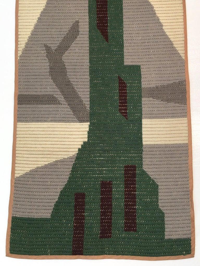 Mid-20th Century Art Deco Knit Tapestry Skyscraper Design For Sale