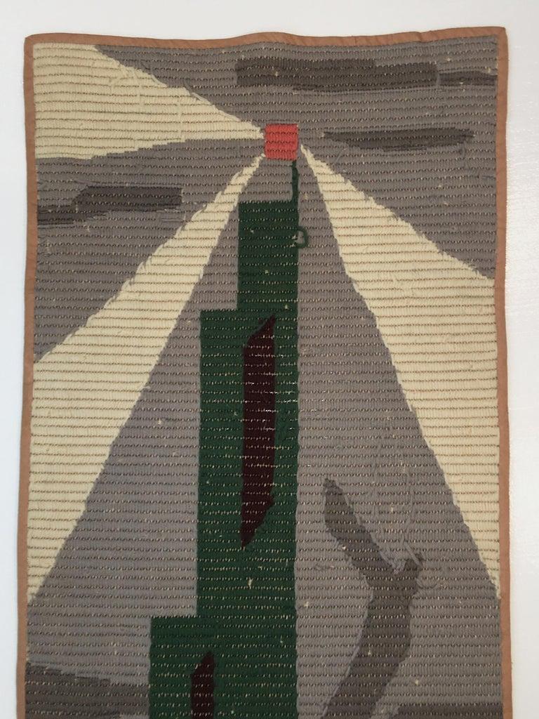 Art Deco Knit Tapestry Skyscraper Design For Sale 1