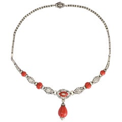 Art Deco Knoll & Pregizer Statement Necklace
