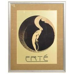 Art Deco L' Amour Vintage Poster Style of ERTE 'Romain de Tirtoff' France, 1980s