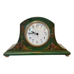 Art Deco Lacquered Chinoiserie Mantel Clock