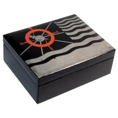 Art Deco Lacquered Decorative Jewelry Box