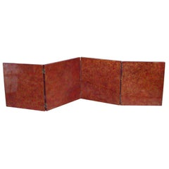 Art Déco Lacquered Four-Panel Screen