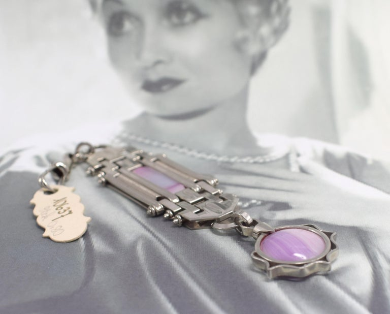 Art Deco Ladies Fob Watch Holder or Key Ring For Sale 2