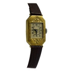 Art Deco Ladies Gold Plated Wrist Watch by Bulova