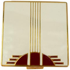 Art Deco Ladies Powder Compact by Primrose House, New York, circa 1930