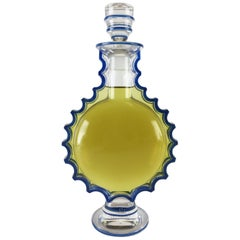 Art Deco Lalique Crystal & Enamel Master Size Perfume Display Bottle, circa 1944