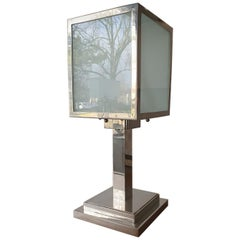 Art Deco Lamp and Sanded Glass