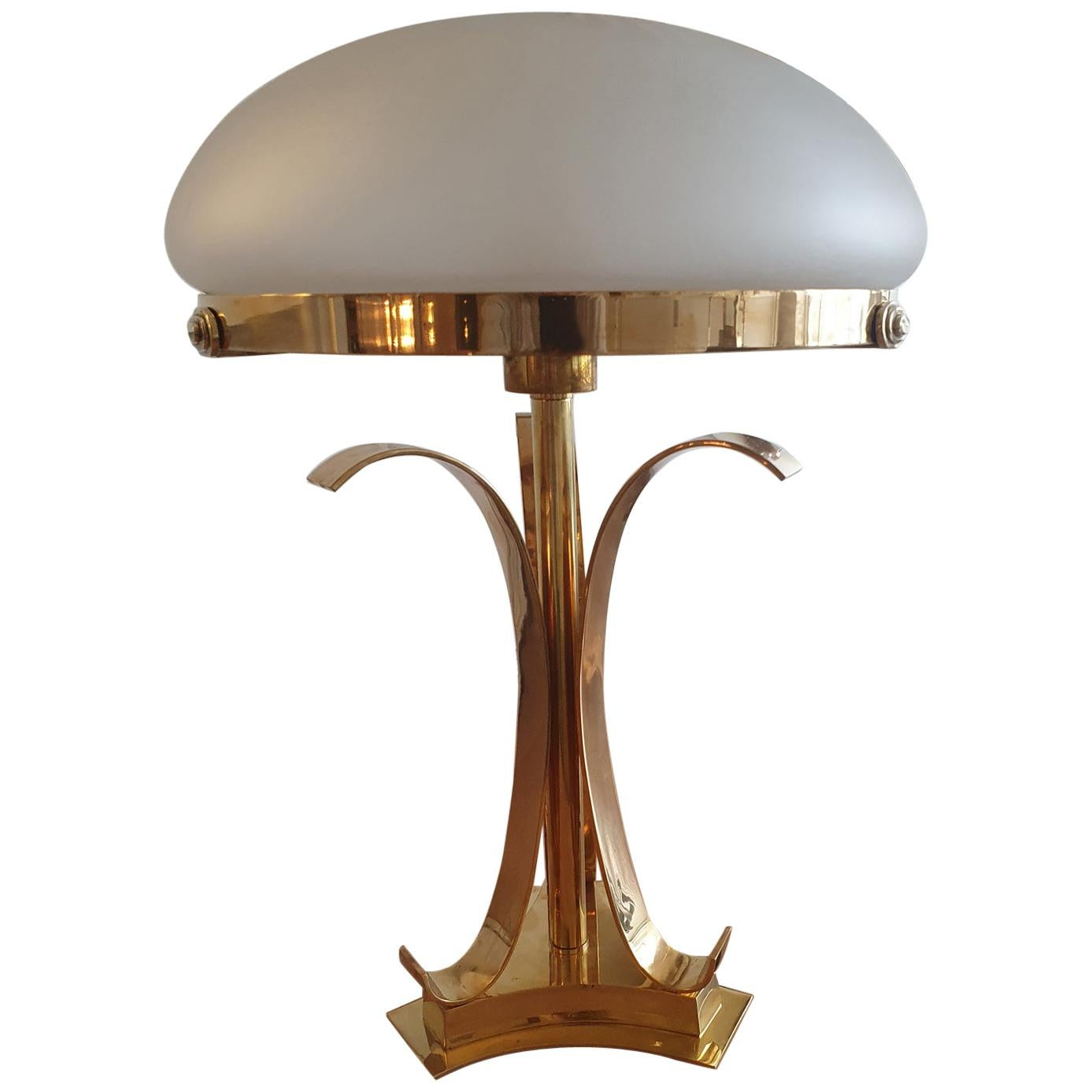 Art Deco Lamp and Vintage Glass