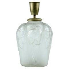 Art Deco Lamp Glass 'Perruches' Carrillo