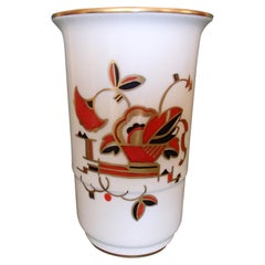 Art Deco Langenthal Ceramic Vase with Geometrical Design
