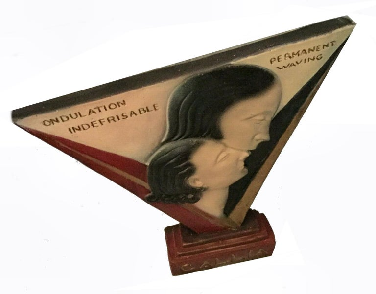 French  Art Deco Large Advertising Stand, Circa 1930's For Sale