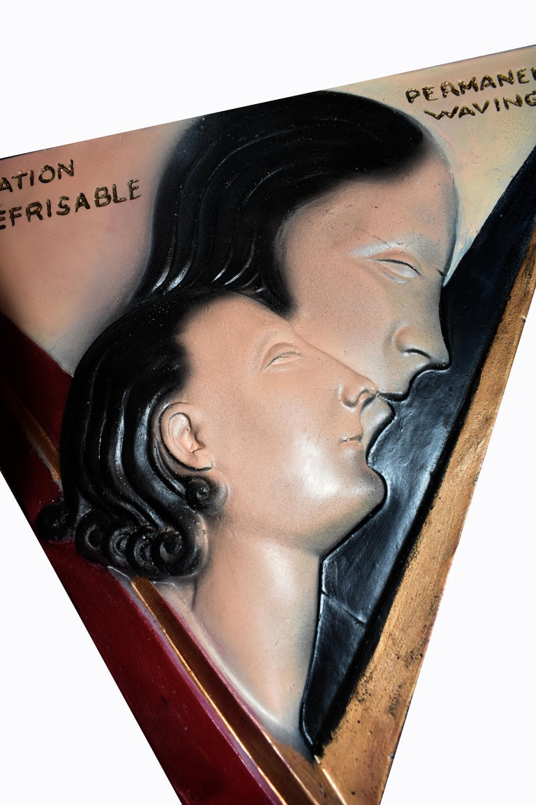 Art Deco Large Advertising Stand, Circa 1930's In Good Condition For Sale In Devon, England