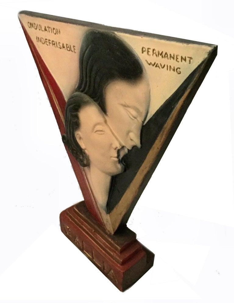 20th Century  Art Deco Large Advertising Stand, Circa 1930's For Sale