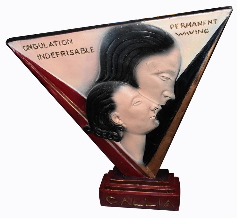Art Deco Large Advertising Stand, Circa 1930's For Sale 2